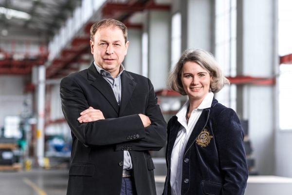 Die Gründer des Unternehmens Dr. Sven Hansen und Ulrike Hoesch-Vial // Founder of the company Dr. Sven Hansen and Ulrike Hoesch-Vial